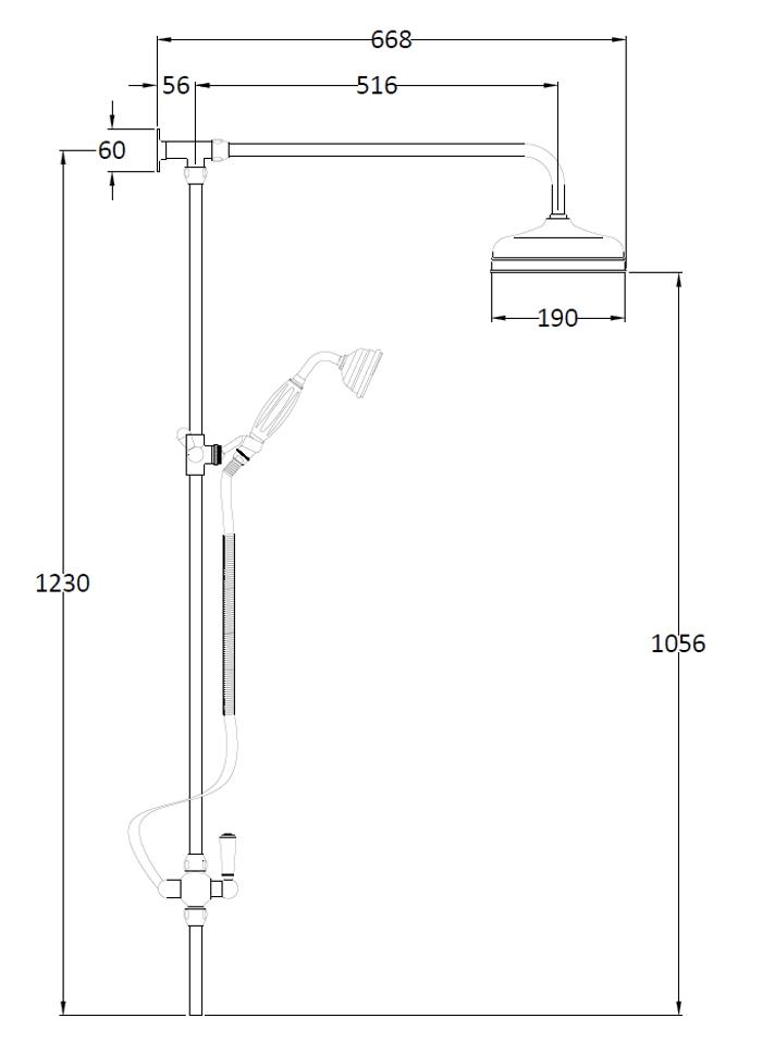 Traditional Showers Shower Kits Rigid Riser Kit